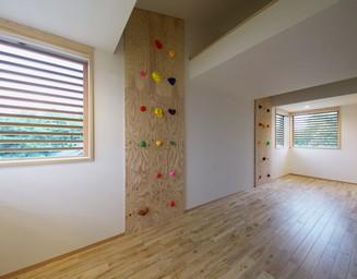 子供部屋の窓から見える風景。の写真